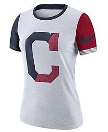 Women's Cleveland Indians Slub Logo Crew T-Shirt