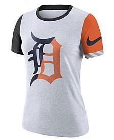 Women's Detroit Tigers Slub Logo Crew T-Shirt