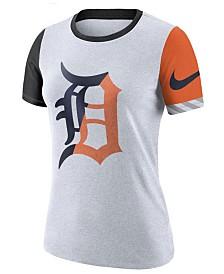 Nike Women's Detroit Tigers Slub Logo Crew T-Shirt