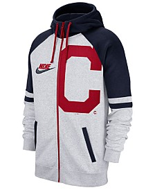 Nike Men's Cleveland Indians Walkoff Full-Zip Hoodie
