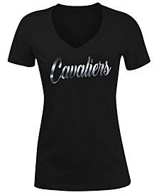 Women's Cleveland Cavaliers Foil V Neck T-Shirt