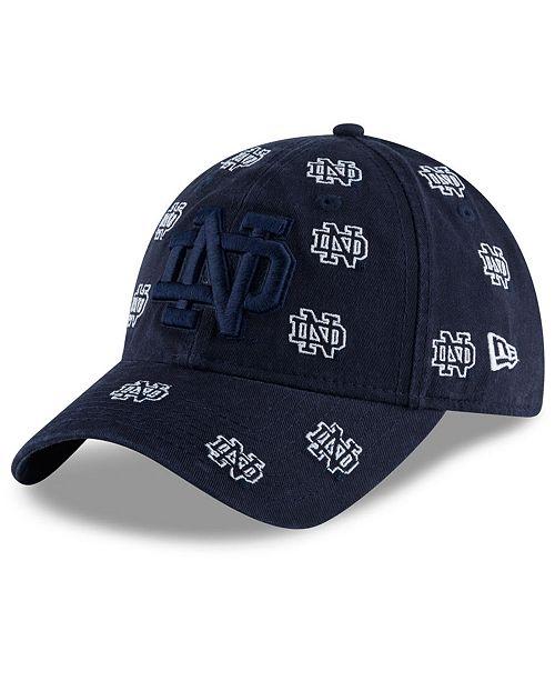best website ce62f 3b8ce ... Cap  New Era Women s Notre Dame Fighting Irish Logo Scatter ...