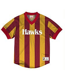 Mitchell & Ness Men's Atlanta Hawks Kicking It Wordmark Mesh T-Shirt