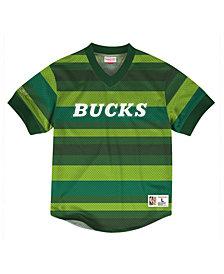 Mitchell & Ness Men's Milwaukee Bucks Kicking It Wordmark Mesh T-Shirt