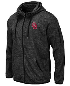 Colosseum Men's Oklahoma Sooners Marled Full-Zip Hooded Sweatshirt