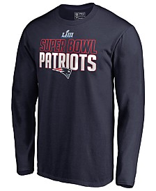 Majestic Men's New England Patriots Super Bowl LIII Bound Safety Blitz Long Sleeve T-Shirt