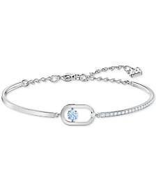 Swarovski Crystal Open Oval Charm Bracelet