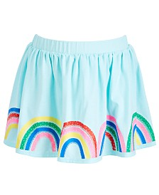 Epic Threads Little Girls Rainbow Border Skirt, Created for Macy's