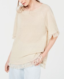 Weekend Max Mara Cimone Linen Fringe Top