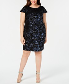 Calvin Klein Plus Size Sequined Sheath Dress