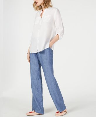 Linen Drawstring-Waist Pants, Created for Macy's