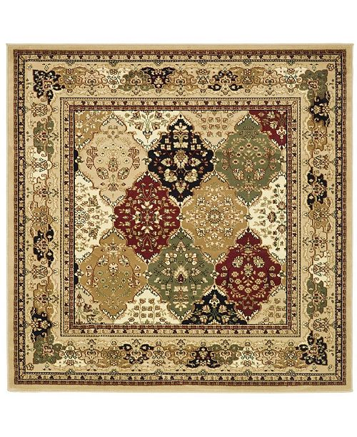 Safavieh Lyndhurst Multi And Black 10 X 10 Square Area Rug Reviews Rugs Macy S