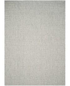 Courtyard Gray and Turquoise 8' x 11' Sisal Weave Area Rug