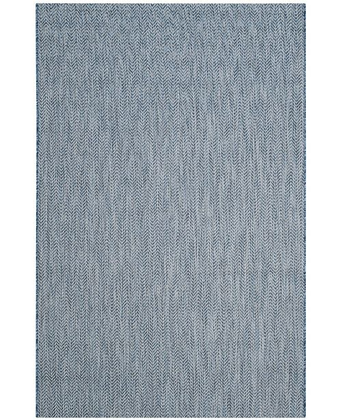 "Safavieh Courtyard Navy and Gray 5'3"" x 7'7"" Sisal Weave Area Rug"