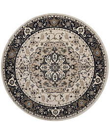 Safavieh Lyndhurst Cream and Navy 7' x 7' Round Area Rug
