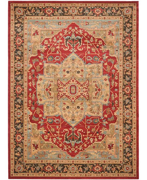Safavieh Mahal Natural and Navy 11' x 16' Rectangle Area Rug