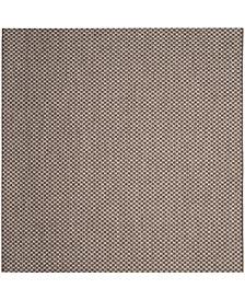 "Safavieh Courtyard Light Brown and Light Gray 6'7"" x 6'7"" Sisal Weave Square Area Rug"