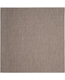 "Safavieh Courtyard Light Brown and Light Gray 6'7"" x 6'7"" Sisal Weave Square Area Rug"
