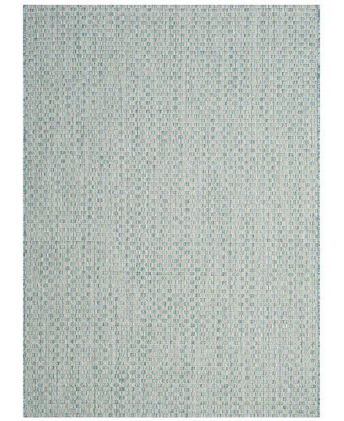 "Safavieh Courtyard Light Blue and Light Gray 4' x 5'7"" Sisal Weave Area Rug"