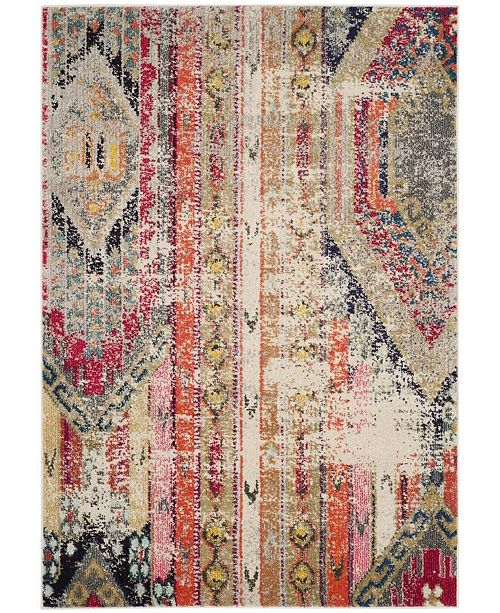 "Safavieh Monaco Light Gray and Multi 4' x 5'7"" Area Rug"