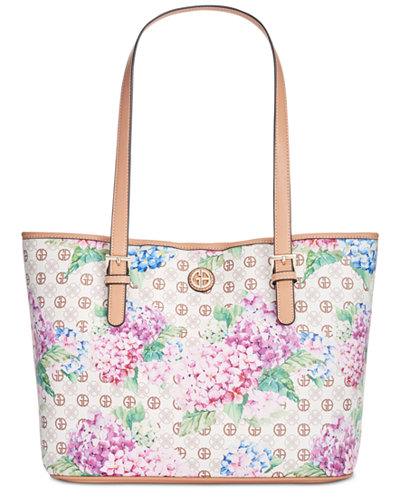 Giani Bernini Hydrangea Print Tote, Created for Macy's