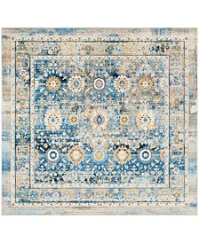 """Safavieh Claremont Blue and Gold 6'7"""" x 6'7"""" Square Area Rug"""