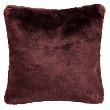 """Waterford Amarah Cabernet 16"""" X 16"""" Faux Fur Square Collection Decorative Pillow"""