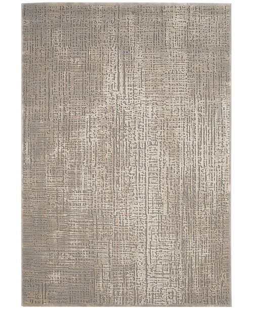 """Safavieh Meadow Ivory and Gray 6'7"""" x 6'7"""" Round Area Rug"""