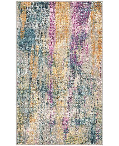 Safavieh Madison Blue and Fuchsia 3' x 5' Area Rug