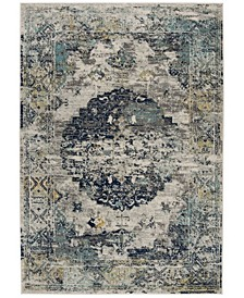Madison Light Gray and Blue 3' x 5' Sisal Weave Area Rug