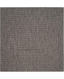 "Safavieh Courtyard Black and Beige 5'3"" x 5'3"" Sisal Weave Square Area Rug"