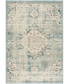 """Madison Cream and Blue 2'2"""" x 8' Runner Area Rug"""