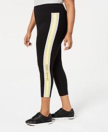 Plus Size Logo-Stripe Ankle Leggings