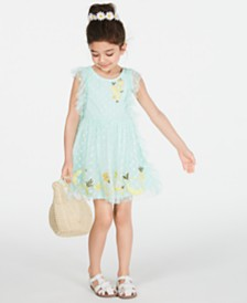 Epic Threads Toddler Girls Dot-Mesh Lemon Dress, Created for Macy's