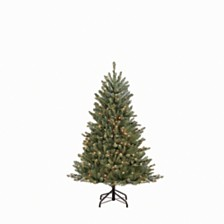 Puleo International 4.5 ft.Pre-Lit Franklin Fir Artificial Christmas Tree with 250 Clear UL listed Lights