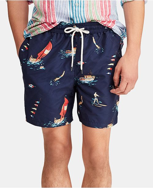 "Polo Ralph Lauren Men's 5-1/2"" Traveler Swim Trunks"