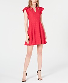 Nanette Lepore Textured Fit & Flare Dress
