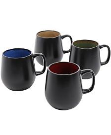 Soho Cafe 4 Piece Set of 20 Ounce Mugs