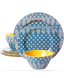 California Zoey 12 Piece Dinnerware Set