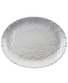 Plastic Oval Traditional Holiday Serving Platter