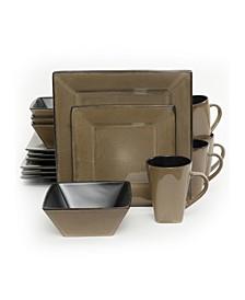 16 Piece Hard Square Dinnerware Set