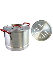 Oster Cocina Pamona 12 Quart Tamale Pot with Steamer Insert