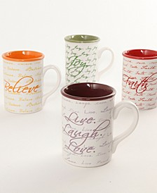 Inspirational Words 16 Ounce Mug Set