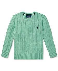 Polo Ralph Lauren Little Boys Cable-Knit Cotton Sweater