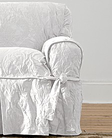 Matelasse Damask 1-Piece Chair Slipcover