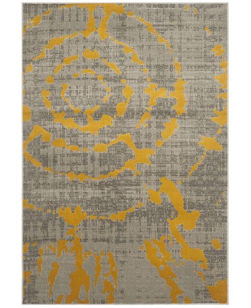 Safavieh Porcello Light Gray and Yellow 6' x 9' Area Rug