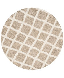 Dallas Beige and Ivory 6' x 6' Round Area Rug