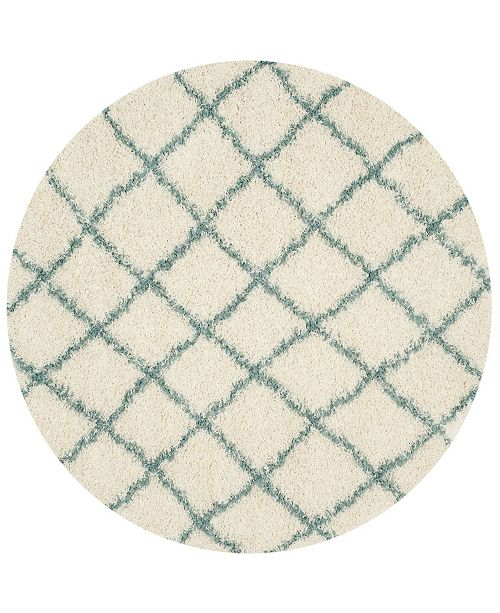 Safavieh Dallas Ivory and Sea foam 6' x 6' Round Area Rug