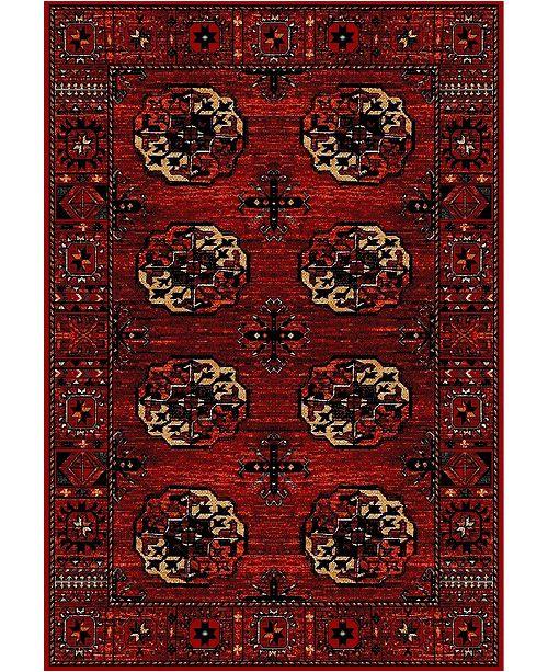 """Safavieh Vintage Hamadan Red and Multi 6'7"""" x 9' Area Rug"""