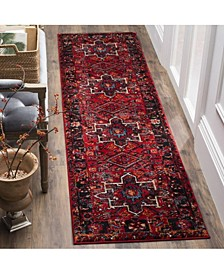 "Vintage Hamadan Red and Multi 2'2"" x 16' Runner Area Rug"